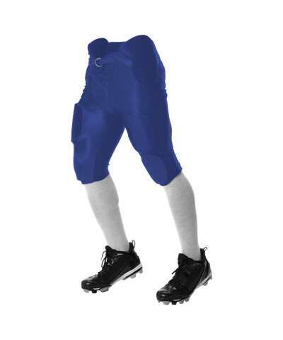 Alleson 688DY Youth Solo Series Integrated Football Pant - Royal - Football - Hit A Double