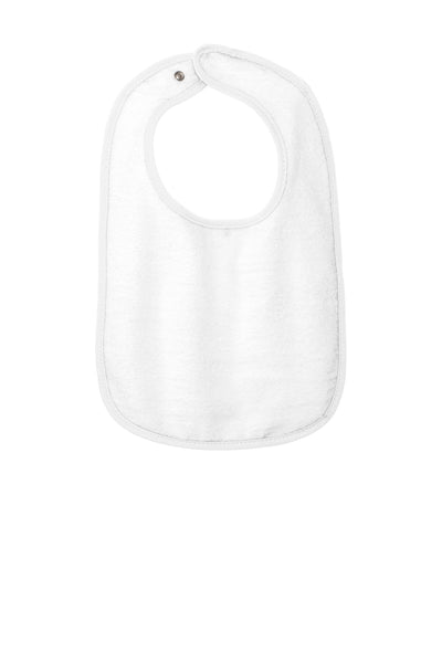 Rabbit Skins 1003 Infant Contrast Trim Terry Bib - White - HIT A Double
