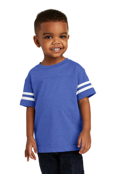 Rabbit Skins 3037 Toddler Football Fine Jersey Tee - Vintage Royal Blended White - HIT A Double