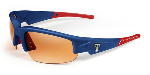 Maxx HD MLB Texas Rangers Dynasty 2.0 Sunglasses Blue Red Tips - Baseball Accessories, Softball Accessories - Hit A Double