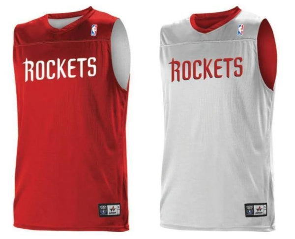 Alleson A105LA Adult NBA Logo Reversible Game Jersey - Houston Rockets