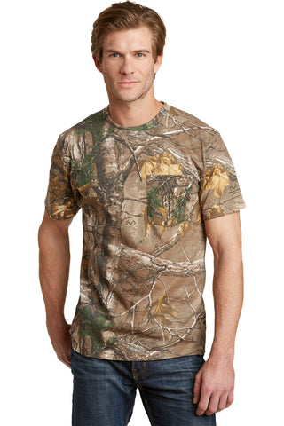 Russell Outdoors S021R Realtree Explorer 100% Cotton T-Shirt with Pocket - Realtree Xtra - HIT A Double