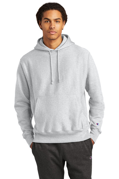 Champion S101 Reverse Weave Hooded Sweatshirt - Ash - HIT A Double