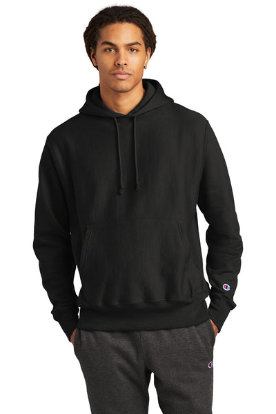 Champion S101 Reverse Weave Hooded Sweatshirt - Black - HIT A Double