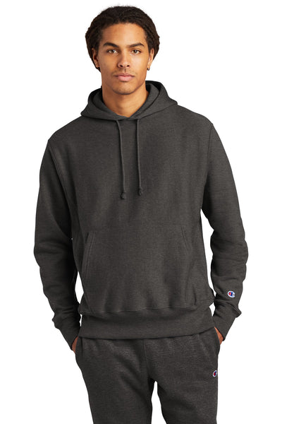 Champion S101 Reverse Weave Hooded Sweatshirt - Charcoal Heather