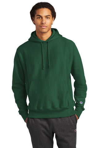 Champion S101 Reverse Weave Hooded Sweatshirt - Dark Green - HIT A Double