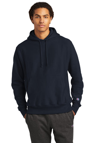 Champion S101 Reverse Weave Hooded Sweatshirt - Navy - HIT A Double