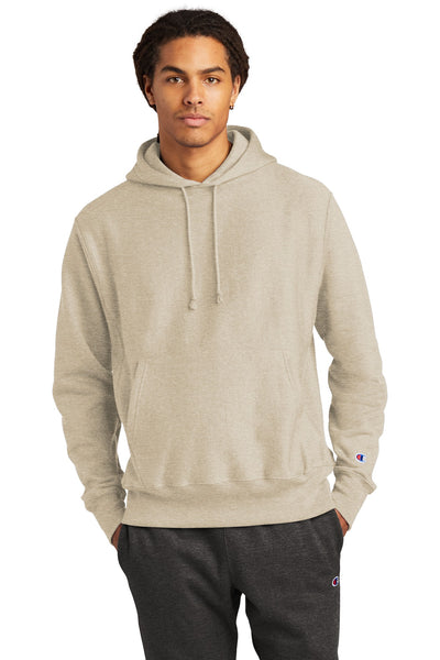 Champion S101 Reverse Weave Hooded Sweatshirt - Oatmeal Heather - HIT A Double