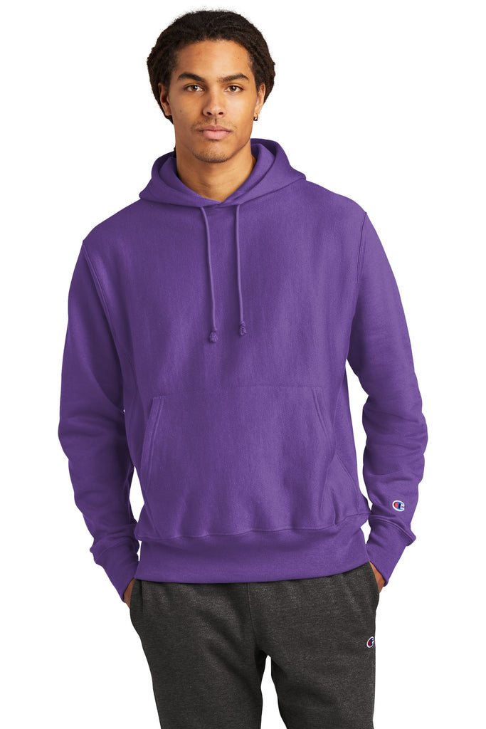 Champion S101 Reverse Weave Hooded Sweatshirt - Purple