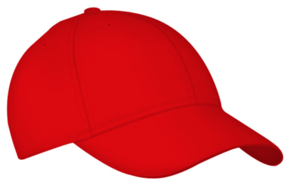 Alleson 3CCTA Adult Six Panel Baseball Cap - Scarlet