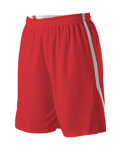 Alleson 531PRW Women's Reversible Basketball Short - Scarlet White - Basketball - Hit A Double