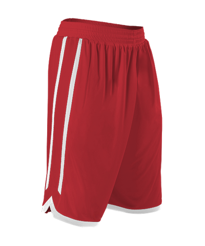Alleson 588PY Youth Reversible Basketball Short - Scarlet White