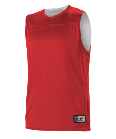 Alleson A105BY Youth NBA Blank Reversible Game Jersey - Scarlet White