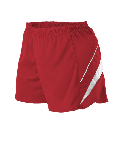 Alleson R1LFPW Women's Loose Fit Track Short - Scarlet White - Training/Running - Hit A Double