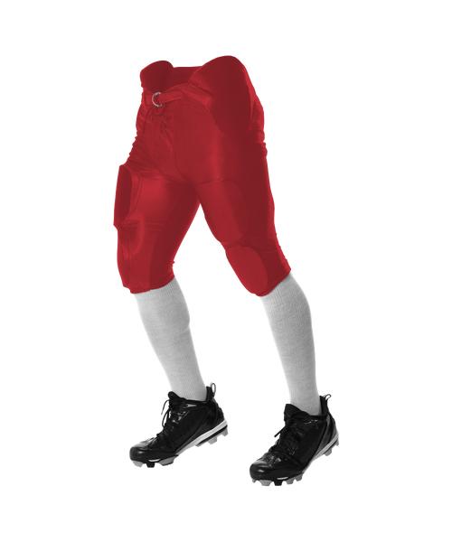 Alleson 688DY Youth Solo Series Integrated Football Pant - Scarlet - Football - Hit A Double