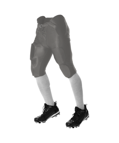 Alleson 688DY Youth Solo Series Integrated Football Pant - Silver - Football - Hit A Double