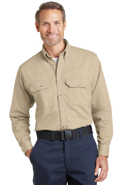 Bulwark SLU2 Excel Fr Comfortouch Dress Uniform Shirt - Khaki