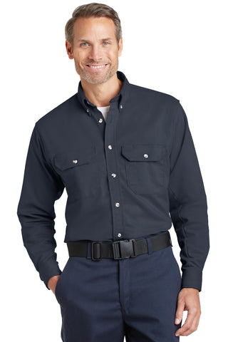 Bulwark SLU2 Excel Fr Comfortouch Dress Uniform Shirt - Navy - HIT A Double