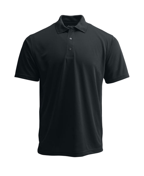 Paragon 100 Adult Solid Mesh Polo - Black