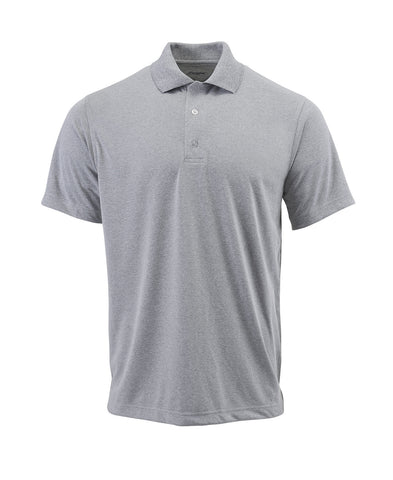 Paragon 100 Adult Solid Mesh Polo - Heather Gray