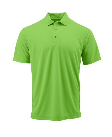 Paragon 100 Adult Solid Mesh Polo - Neon Lime - HIT A Double