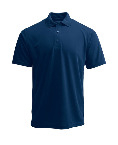Paragon 100 Adult Solid Mesh Polo - Navy