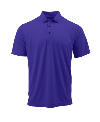 Paragon 100 Adult Solid Mesh Polo - Purple - HIT A Double