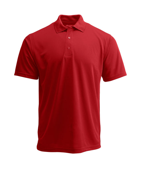 Paragon 100 Adult Solid Mesh Polo - Cardinal - HIT A Double