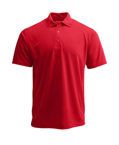 Paragon 100 Adult Solid Mesh Polo - Red - HIT A Double