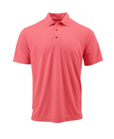 Paragon 100 Adult Solid Mesh Polo - Melon
