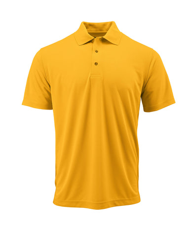 Paragon 100 Adult Solid Mesh Polo - Gold