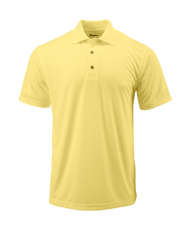 Paragon 100 Adult Solid Mesh Polo - Butter