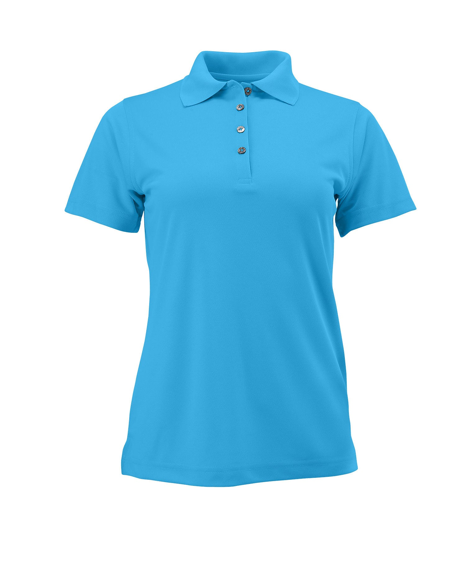 Paragon 104 Ladies Solid Mesh Polo - Turquoise