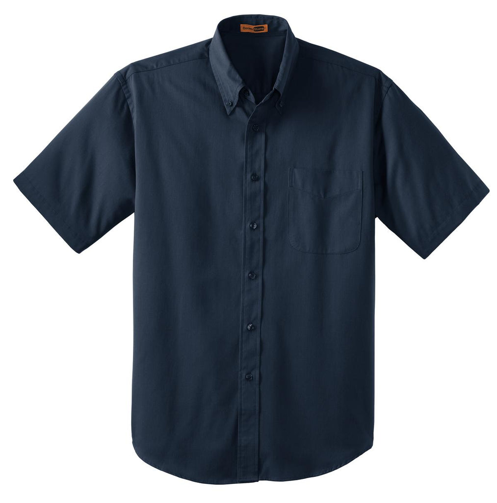 CornerStone SP18 Short Sleeve Superpro Twill Shirt - Navy - HIT A Double