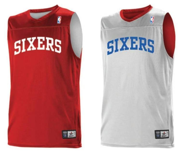 Alleson A105LY Youth NBA Logo Reversible Jersey - Philadelhia 76ers
