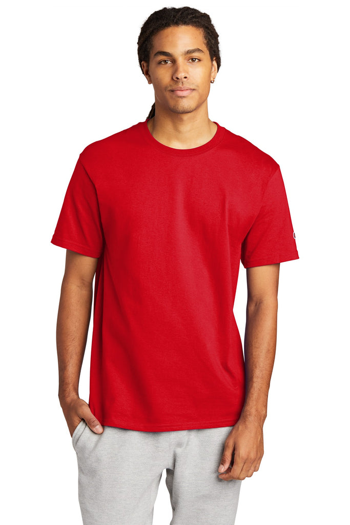 Champion T425 Heritage 6-oz Jersey Tee - Red - HIT A Double