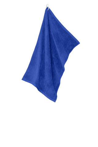 Port Authority TW530 Grommeted Microfiber Golf Towel - Royal
