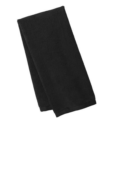 Port Authority TW540 Microfiber Golf Towel - Black - HIT A Double