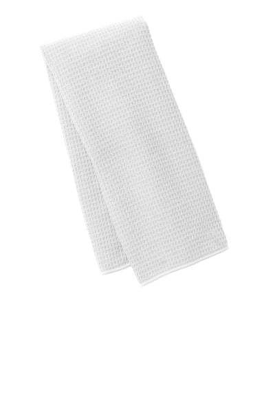 Port Authority TW59 Waffle Microfiber Fitness Towel - White