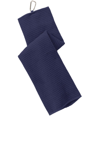 Port Authority TW60 Waffle Microfiber Golf Towel - True Navy - HIT A Double
