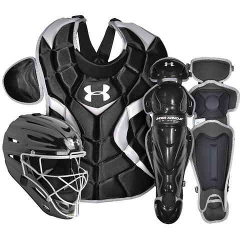 Under Armour PTH Victory Series UACK2-SRVS Senior 12-16 Yr Catcher's Kit - Black - Catcher's Gear - Hit A Double - 1