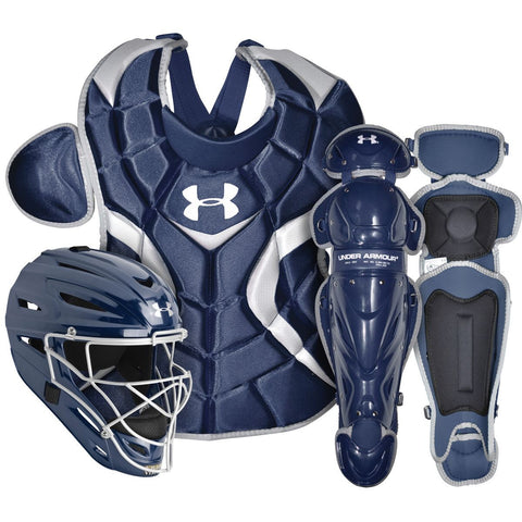 Under Armour PTH Victory Series UACK2-SRVS Senior 12-16 Yr Catcher's Kit - Navy - Catcher's Gear - Hit A Double - 1