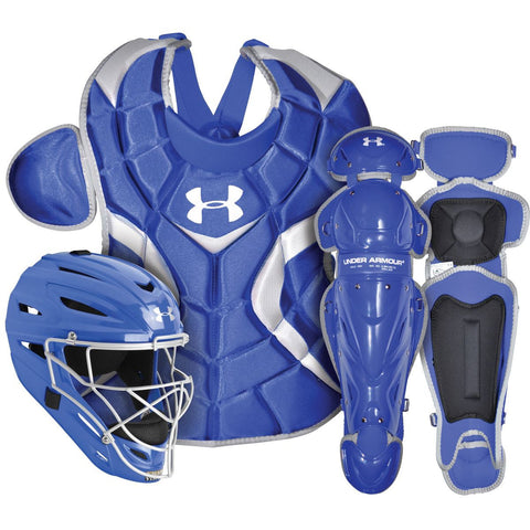 Under Armour PTH Victory Series UACK2-SRVS Senior 12-16 Yr Catcher's Kit - Royal - Catcher's Gear - Hit A Double - 1
