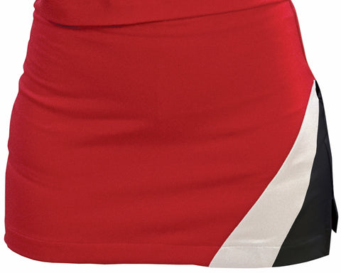 Pizzazz Premier Tumble Uniform Skirts - Red Black