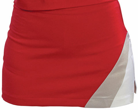 Pizzazz Premier Tumble Uniform Skirts - Red White