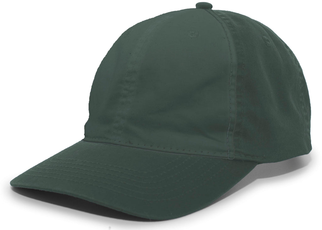 Pacific Headwear V57 Vintage Cotton Buckle Back Cap - Dark Green - HIT A Double