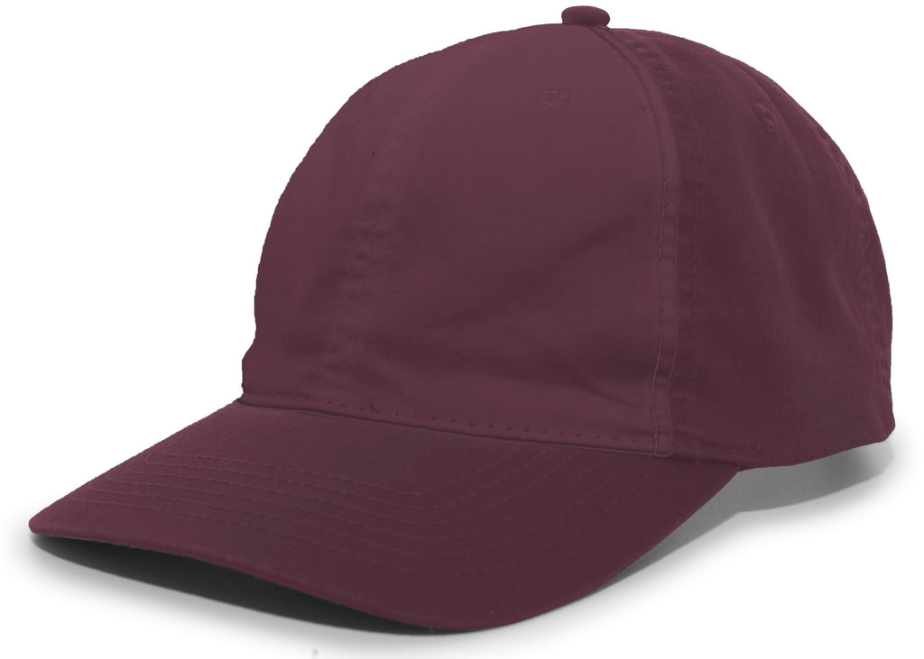 Pacific Headwear V57 Vintage Cotton Buckle Back Cap - Maroon - HIT A Double