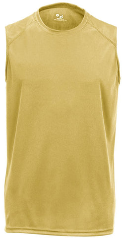 Badger 2130 B-Core Sleeve Youth Tee - Vegas Gold - Basketball, Training/Running, Fanwear - Hit A Double