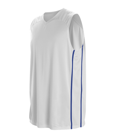 Alleson 535J Men's Basketball Jersey - White Royal - Basketball - Hit A Double