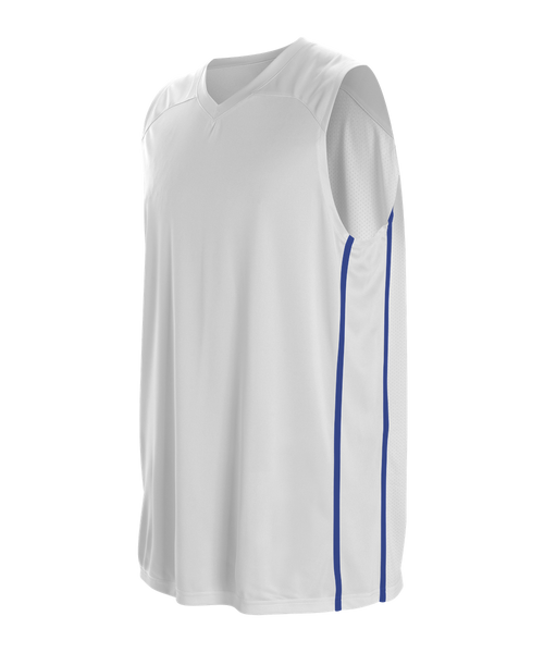 Alleson 535JY Youth Basketball Jersey - White Royal